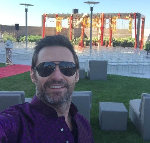 Hugh Jackman wishing his friends on Hindu wedding